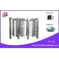 Wholesale Electronic 120 Degree Turning 3 Lane Security Auto Full Height Turnstile Gate from china suppliers