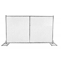 "Wholesale Chain Wire Temporary Fencing Mesh 2"" x 2"" 6ft x 10ft with a 1 3/8"" pipes 16GA temporary mesh fence for sale from china suppliers"