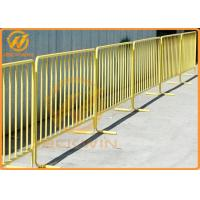 Wholesale Road Safety Flat Foot Metal Galvanized Crowd Control Temporary Pedestrian Barrier from china suppliers