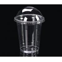 Wholesale 14oz Disposable Plastic PET Disposable Juice Cups 10.2cm Height from china suppliers