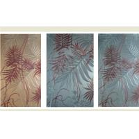 Quality Tempered Decorative Laminated Glass Panels For Light Box / Sofa Background for sale