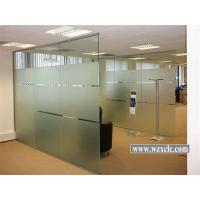 Wholesale Sheets Of Toughened Modular Office Partitions With Straight Glass Panels ,Sound Privacy from china suppliers