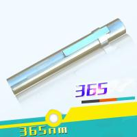 Wholesale Stainless Steel AAA Dry Battery or 10440 Litium Battery 365NM Blacklight UV Flashlight from china suppliers