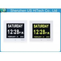 Wholesale Desktop Dementia Calendar Clock , Black And White Alzheimer'S Clock Day Date from china suppliers