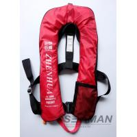Wholesale 150N Auto Inflatable Adult Life Jacket Vest With Safety Harness & Lifeline from china suppliers