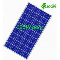 Quality 125W 18Volt Polycrystalline Solar Panels with 36 156 x 156 Poly Crystalline Solar Cells for sale