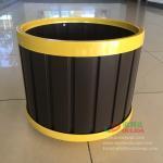 Wholesale WPC garden flowerpot OLDA-7012 round flowerpot Φ390 x 340mm from china suppliers