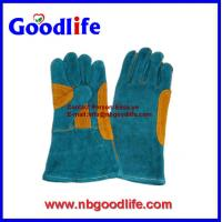 "Wholesale 16"" Long welding cow spllit leather Welding gloves from china suppliers"