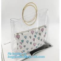 Wholesale pvc candy bag cross body candy shoulder bag with chain, Clear PVC Beautician Fashion shoulder bag for women and girls, T from china suppliers
