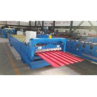 Wholesale Trapezoidal Roof Wall Panel Roll Forming Machine Sheet Metal Roll Former Touch Screen from china suppliers