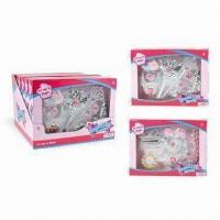 Wholesale Dazzling Beauty Princess Jewelry Set Toys with 2 Combinations Asst, Made of PS Material from china suppliers
