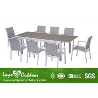 Wholesale Outdoor Places Aluminium Extending Dining Table Sets With Glass In Table Top from china suppliers
