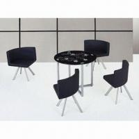 Wholesale Dining Table with Tempered Glass, 8mm Thickness and Chrome Leg from china suppliers