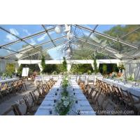 Wholesale Wine Party Clear Top Tent Structure Aluminum Alloy Frame , clear roof tent wedding reception from china suppliers