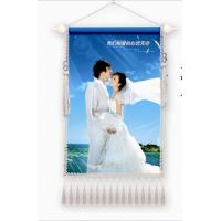 Wholesale 110g to cloth and fabric with wooden pole durable wedding picture printing from china suppliers