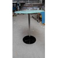 Quality Toughened glass black round table glass coffee table for sale