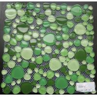 Wholesale Green Mixed Pebble Crystal Glass Mosaic Tile For Bathroom Wall, Anti-Dust from china suppliers