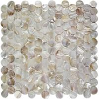 Wholesale Round Mother Of Pearl Bathroom Tiles Fresh Water Seashell Decor 2mm Thickness from china suppliers