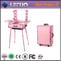 Wholesale Makeup beauty cosmetic case with lights and stand from china suppliers