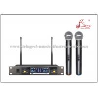 Wholesale Dual Receiver Wireless Microphone And Speaker , Portable Wireless Microphone System from china suppliers