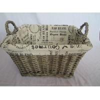Quality Better Homes and Gardens Willow Magazine Basket, Grey for sale