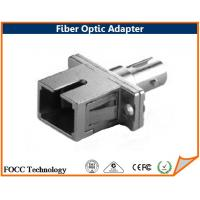 Wholesale Square Fiber Optic Hybrid Adapters , SC to ST Adapter With Rectangular Flange from china suppliers