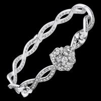 Quality Piaget Rose bracelet in 18K white gold set with 190 brilliant-cut diamonds  G36U3600 for sale