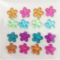 Wholesale flower rhinestone crystal epoxy sticker for mobile cover from china suppliers
