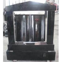 Buy cheap Euor style tombstone, black granite tombstone from wholesalers