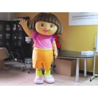 Wholesale Custom Girl Cartoon Character Dora Amusement Costumes  from china suppliers