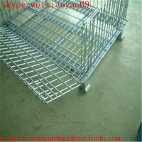 Wholesale Industrial  Wire Mesh Container Cage/Pallet Cage/Security Cage/Storage Cage On Wheels/Metal Bin(100% factory) from china suppliers