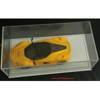 Wholesale New Design Acrylic Model Car Display Box  Perspex Toy Display Case W/ PU Bottom Plexiglass Display Box from china suppliers