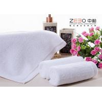 Quality ZEBO Disposable Hotel Face Towel White Color 21S / 32S / 16S Cotton Yarn for sale