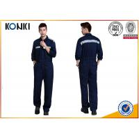 Wholesale Navy Safety Custom Work Uniforms Long Sleeve With Reflective Strip from china suppliers