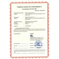 Raywell Technology CO.,LTD. Certifications