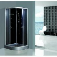 Wholesale Enclosed Framed Shower Glass Doors , Custom Glass Shower Walls Black Back from china suppliers