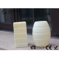 Wholesale Plastic Material Led Pillar Candles With Flat Top Striped Candle Set from china suppliers