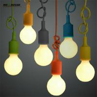 Wholesale Colorful Pendant Lamp Modern Vintage Bar Restaurant Bedrooms Large Shopping Mall Muuto E27 Art Pendant Light(DO-61) from china suppliers