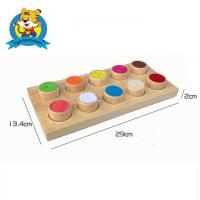Buy cheap Wooden montessori toy for kids Montessori Wooden Texture Cylinders from wholesalers