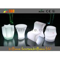 Quality Polyethylene Bar Furniture LED lighting bar stools With Wireless Remote Control for sale