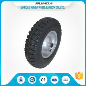 Steel Rim Pneumatic Rubber Wheels 20mm Inner Hole Ball Bearing 150kgs Loading