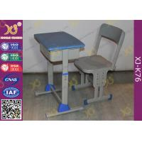 China Adjustable School Desk And Chair With Colorful Plastic Seat 5 Years Warranty on sale