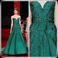 China Evening Gowns Ball Gown Taffeta Sequins Long Womens Party Dresses , Elie Saab 2014 on sale