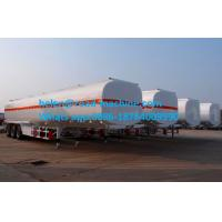Buy cheap Round Or Square Shape Chemical Liquid Tanker Trailer Three Axles 30,000L- 33,000L from wholesalers