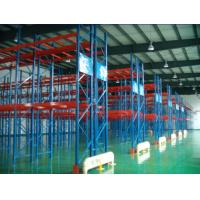 Wholesale Custom Q235B, 75 and 76.2 mm Pitch, Power Coating, Steel Metal Double Deep Pallet Racking from china suppliers