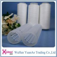 Wholesale AAA Grade 402 Raw Pattern 100% Spun Polyester Yarn On Plastic Cone from china suppliers