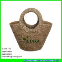 Wholesale LUDA designer purses wheat straw made beach shopping straw bag from china suppliers