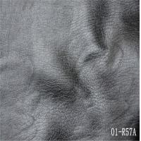 Wholesale embossing pu leather with knitted fabric base for shoe from china suppliers