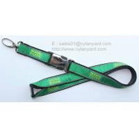Wholesale Luxurious embroidered logo label applique lanyards, jacquard label overlaid lanyards, from china suppliers