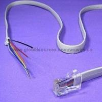 Wholesale RJ45 Cable Assemblies with Straight, Retractable and Coiled Flat Oval Cable from china suppliers
